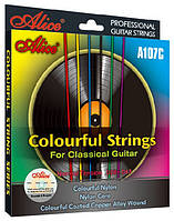 Разноцветные струны Alice A107C для классической гитары