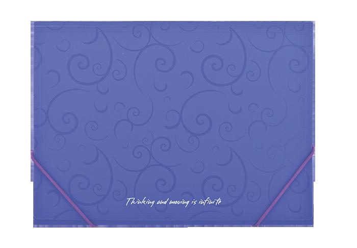 Папка пласт. А4 на гумках, BAROCCO, фіолетовийBM.3914-07