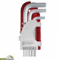 Набор Г-образных шестигранных ключей 9шт., 1.5-10 мм, S2, PROF Intertool HT-1801