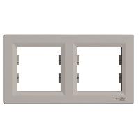 Рамка двойная Schneider Electric Asfora горизонтальная Бронза EPH5800269
