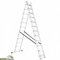 Лестница алюминиевая 3-х секционная универсальная раскладная 3*12ступ. 7.89м Intertool LT-0312
