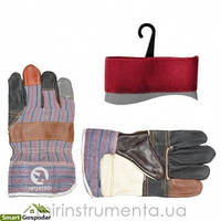 Перчатка комбинированная из кожи и ткани 10.5 Intertool SP-0004