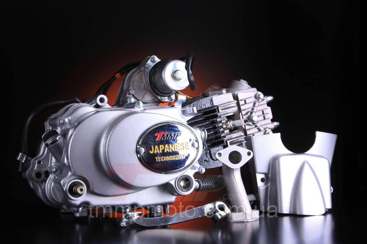Двигатель Альфа Дельта 125см3 ТММР  механика , заводской двигатель, механическое сцепление