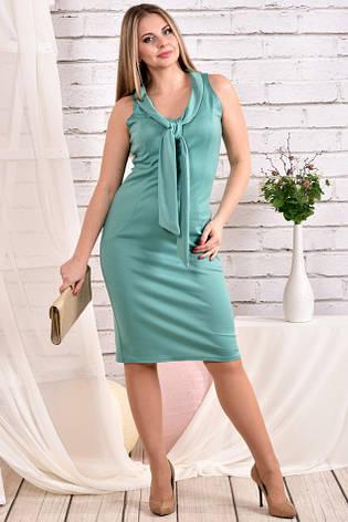 Милое платье больших размеров 0461 шалфей, фото 2