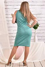 Милое платье больших размеров 0461 шалфей, фото 3