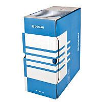Бокс для архівації докум., 155мм, синій7663301PL-10