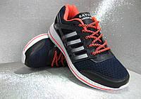 Кроссовки  подростковые сине- чёрные 38р.