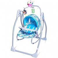 Кресло-качалка голубое (BT-SC-0003)