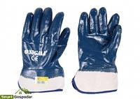 """Перчатки трикотажные Sigma с полным нитриловым покрытием (9223011) Перчатки трикотажные с полным """"нитриловым"""" покрытием (расклешенные МБС) sigma"""