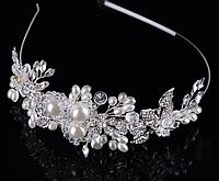 Ободок украшение для свадебной  прически
