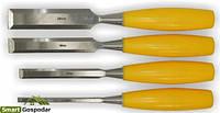 Набор стамесок 4шт (6,12,18,25мм) пластиковая ручка sigma 4326231