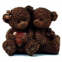Подарок на свадьбу молодоженам. Шоколадные влюбленные мишки, фото 1