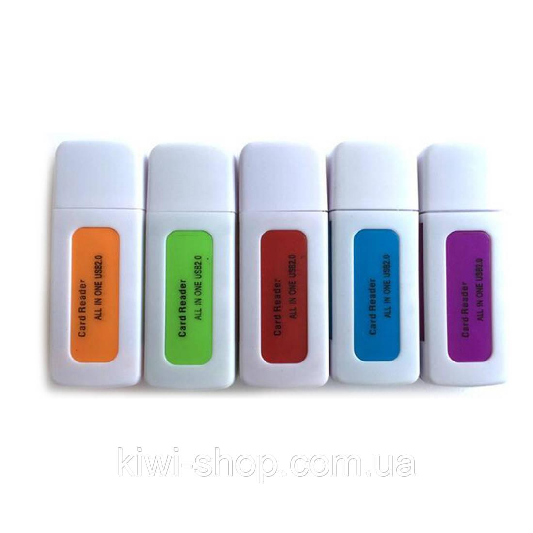 Картридер универсальный SD, Mini SD, Micro SD, M2
