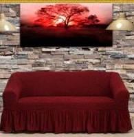 Чехол на диван Arya Burumcuk бордовый