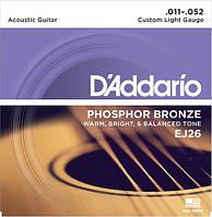 Струны D'Addario EJ26 Custom Light (011-052) для акустической гитары