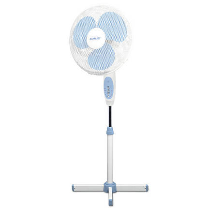 Вентиляторы напольные Scarlett SC-174 белый таймер +пульт, фото 2