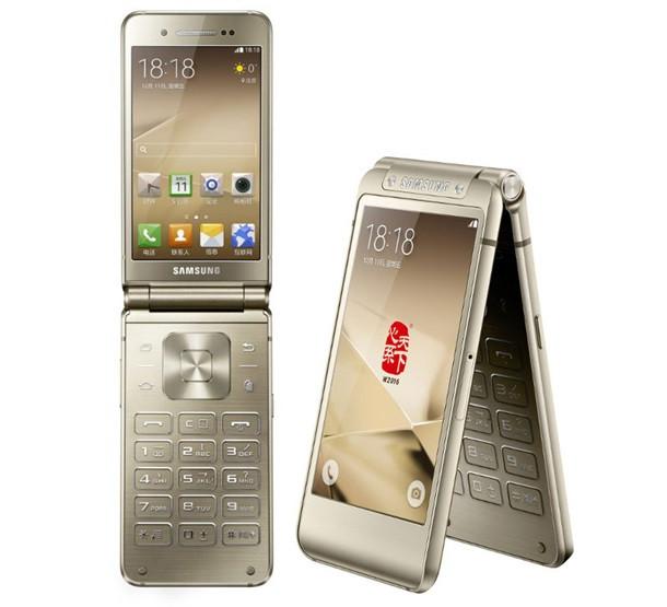 VIP Смартфон-раскладушка W2016  с 2 дисплеями gold(золотой)  - Rov-mobile  в Днепре