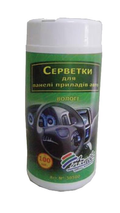 Серветки для авто (панель приборів) 100шт., вологі, в банці30500