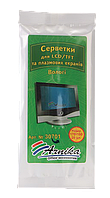 Серветки для LCDTFT і плазмових екранів 20шт., в м;якій упаковці30701