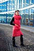 Жилетка-одеяло женская красная, красная женская жилетка