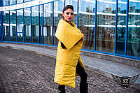 Женская жилетка-одеяло  жемчуг, желтая, желетка женская желтая