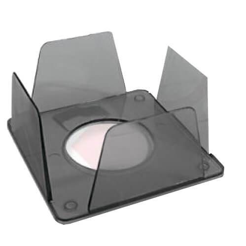 Бокс для бумаги 90х90х45мм дымчатый