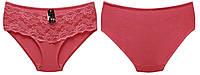Трусы плавки, материал хлопок, тм Biweier, трусы плавки с красивым кружевом. Разные цвета. Размеры 48-54.