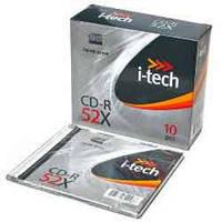 Диск CD-R,700Mb, 52х, Slimd.30599.089