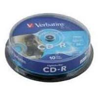 Диск Verbatim  CD-R,700Mb,52х,80min,Cake(10),Extra d.33390.020