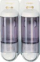 Дозатор жидкого мыла, пластик прозрачный/белый 2*0,17л Acqualba 652