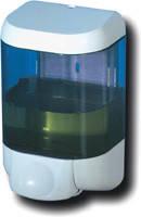 Дозатор жидкого мыла, пластик прозрачный/белый 1л Prestige 615