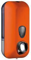 Дозатор жидкого мыла, пластик оранжевый 0,55л Colored 714AR