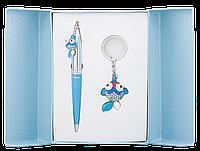 Набор подарочный Langres Goldfish: ручка шариковая + брелок, синий