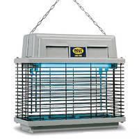 Инсектицидная лампа от насекомых MO-EL 309, 320 м², UV-A 2х15 Вт, IPx3, 5000 В, 355х155х315 мм