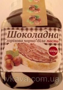 Шоколадная ореховая черно-белая паста Галицкие традиции, 450 гр