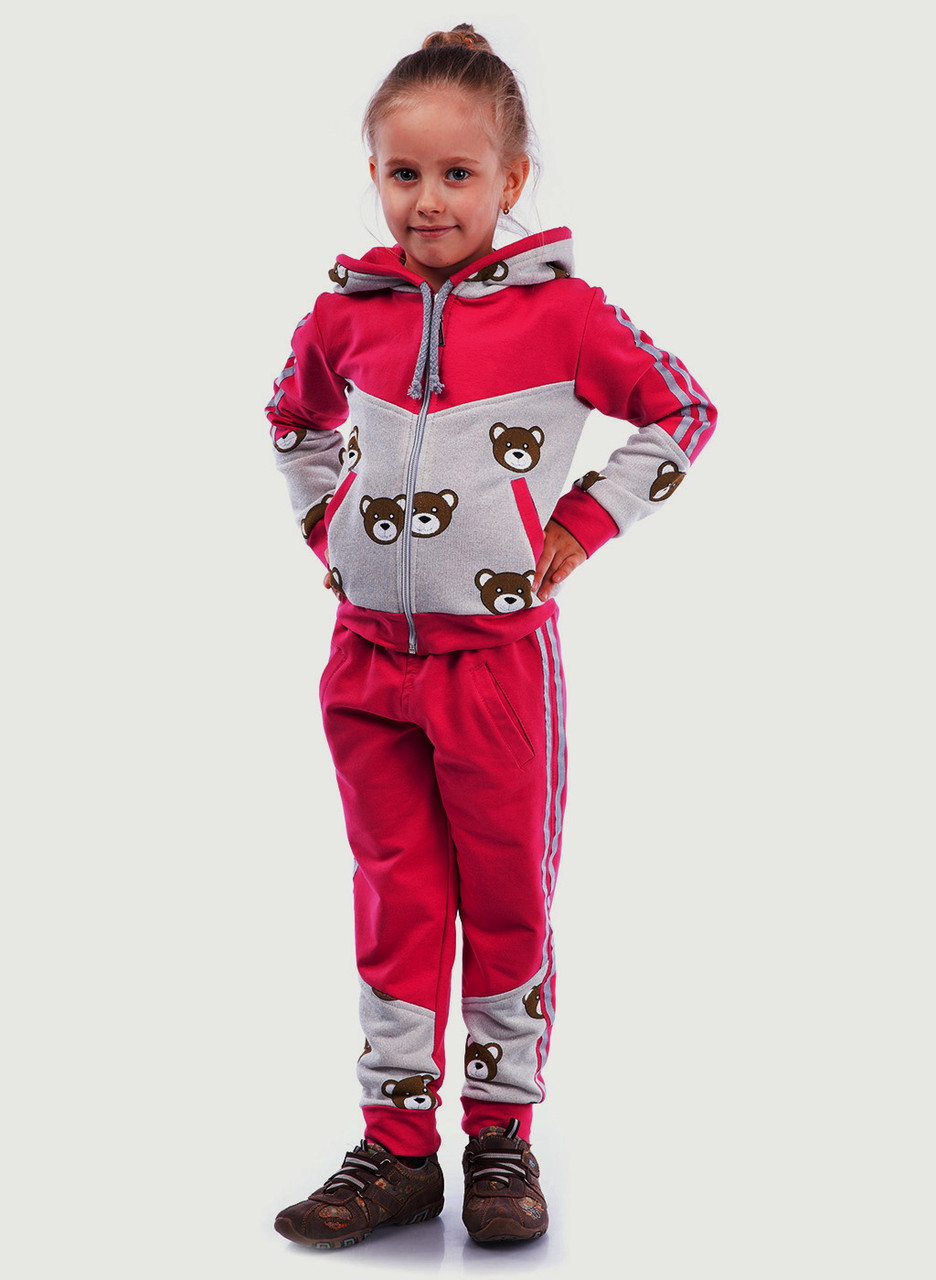 """Детский спортивный костюм для девочки """"Мишки"""", р. 110"""