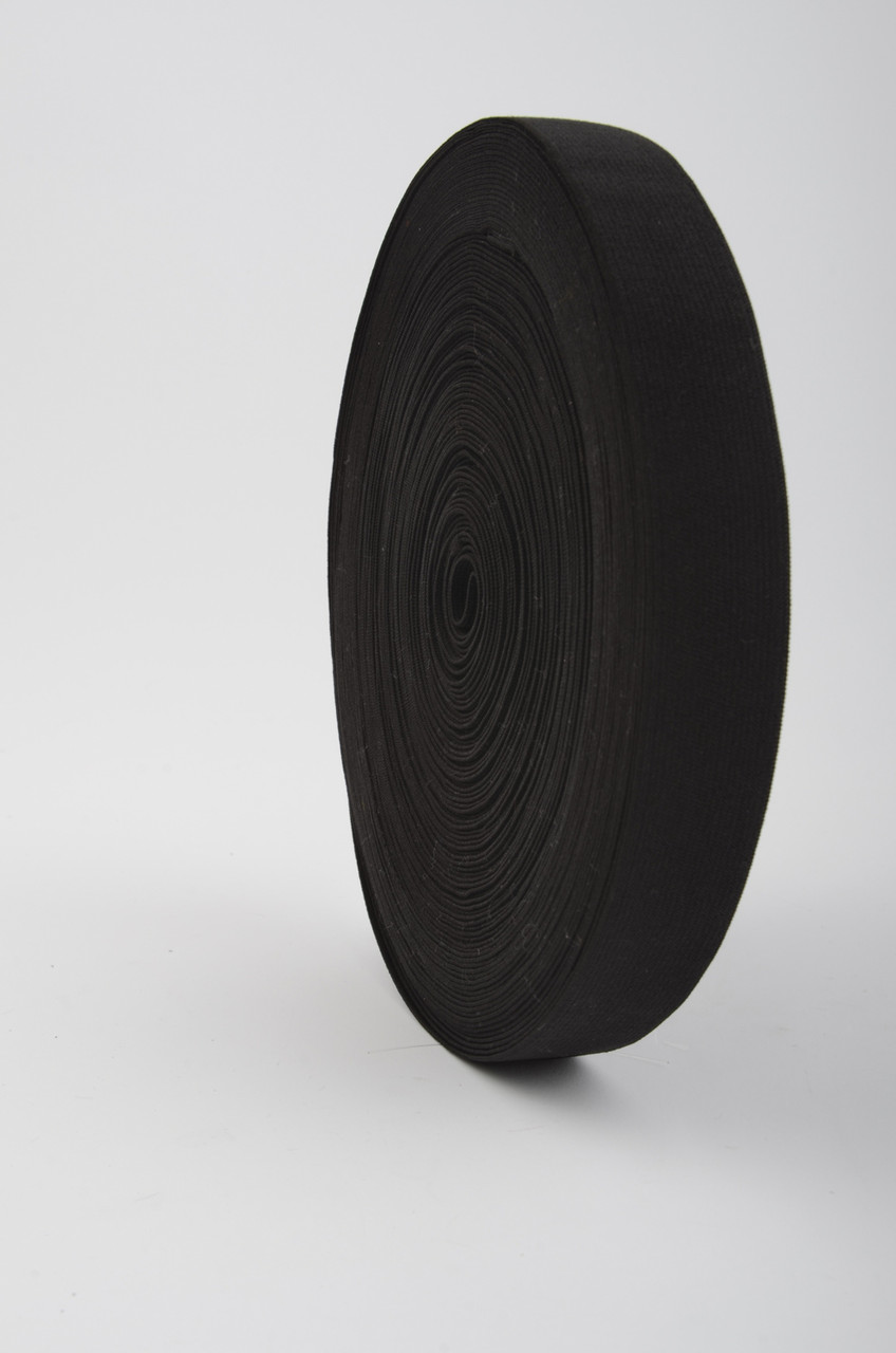 30 mm Confection Elastic / Black / 25 m