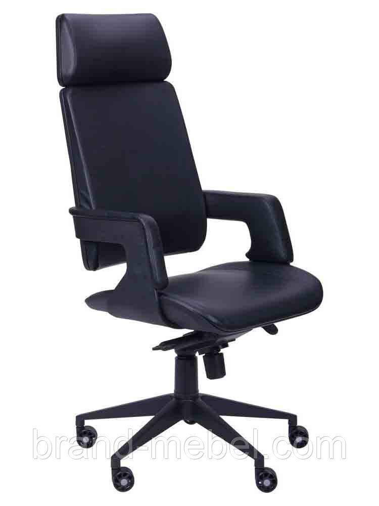 Кресло Axon черный, к/з черный
