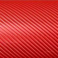 Пленка под карбон АРА (Италия) красная 1,5 м