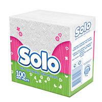 SOLO Салфетки столовые Супер 30*30 1-слойн. 100 шт.