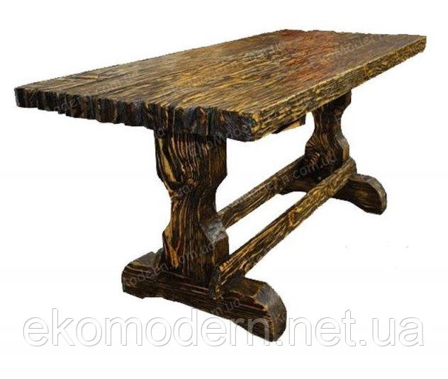 Стол деревянный под старину ДЕРЕВЕНСКИЙ для ресторана и бара, сауны и дачи