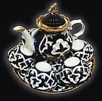 Узбекская национальная посуда Пахта-стандарт. Чайный набор, 8 предметов