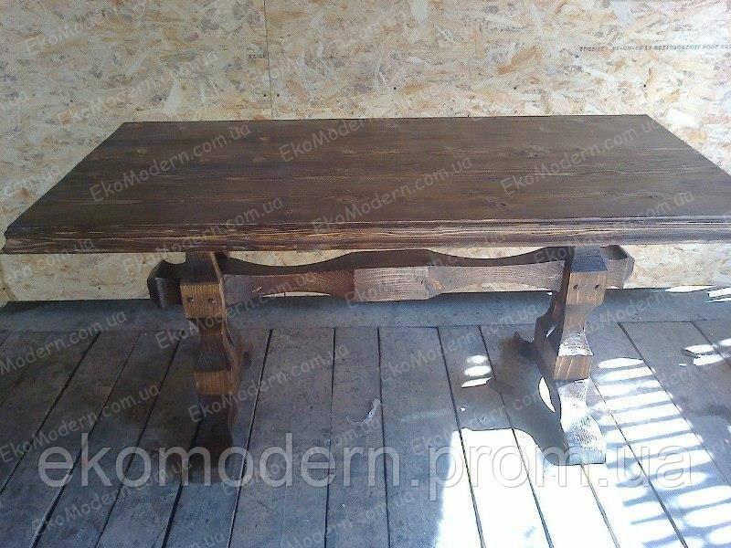 Стол деревянный под старину ЭРЛ для бани, сауны, ресторана и бара