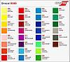 Плёнка для оптики Oracal 83021 Yellow 1.0 m