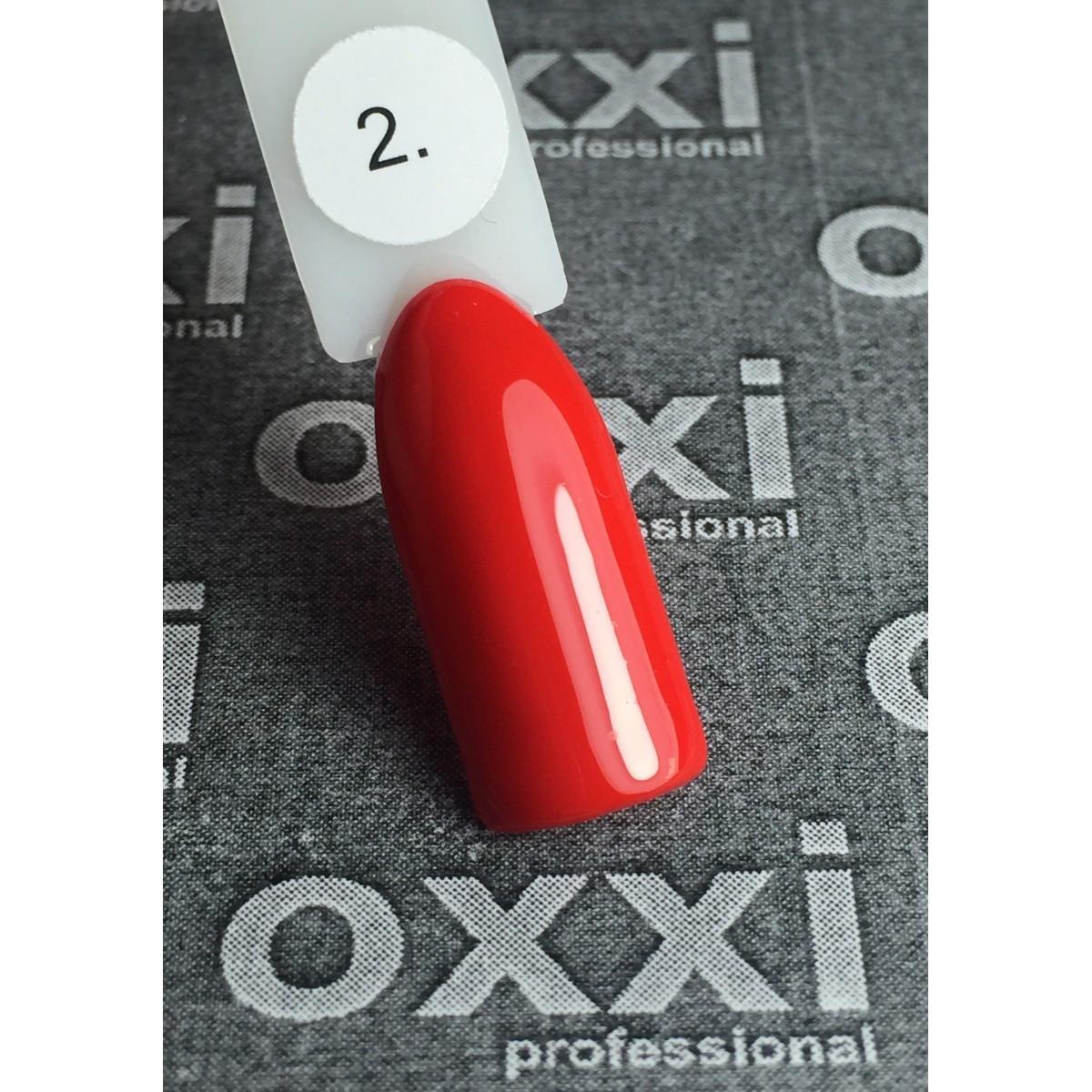 Гель - лак Oxxi №02  (красный, эмаль)