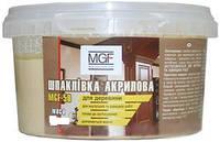 Шпатлевка акриловая универсальная для дерева MGF-50 белая 0,4 кг