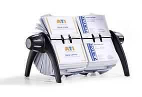Визитница - картотека Durable вращающаяся для 600 визиток черная 2443-01