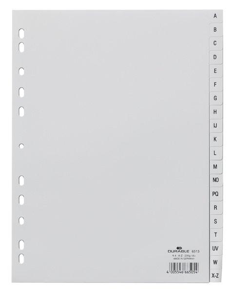 Разделитель Durable алфавитный A-Z А4 пластиковый 6513 10