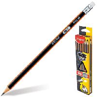 Карандаш графитовый BLACK PEPS HB, с ластиком, коробка с подвесом