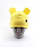 Оптом шапки с 46 по 50 размер трикотажная с ушками детская шапка головные уборы детские опт, фото 1